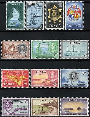 Tonga 1953 Queen Salote Pictorials  SG.101/114  Mint Hinged  (Missing 5d Value)