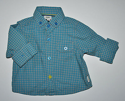 Ted Baker Debenhams Baby Boy Long Sleeve Check Shirt Top 0-3