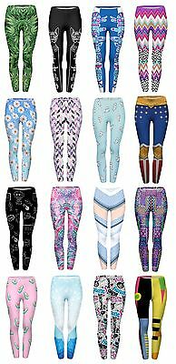 Womens Yoga Pilates Leggings Fitness Workout Running Gym  Super Comfy 8 10 12