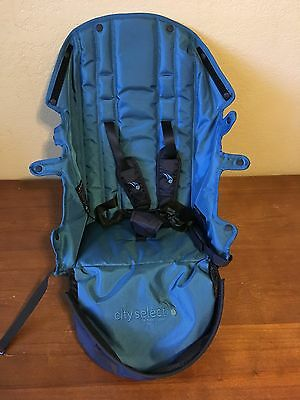 City Select Baby Jogger SNAP IN SEAT LINER Replacement W/ Buckle TEAL New UNUSED