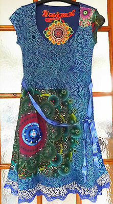 New Desigual Ladies Dress 'YOLANDA' Half Sleeve, Size S