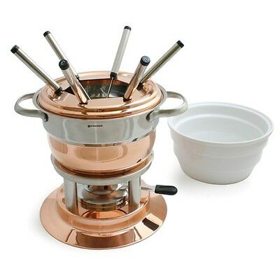NEW Swissmar Lausanne 11pc Copper Fondue Set. Great Price! RRP$329.00