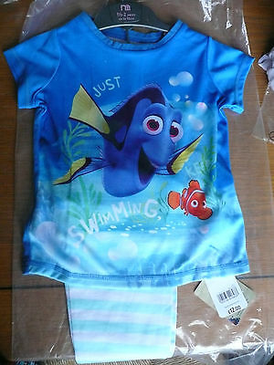 "BNWT Mothercare Girl's ""Dory"" Pyjamas/ Age 18-24/ Long legs/ Short Sleeves"
