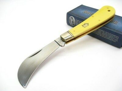 ROUGH RIDER Yellow HAWKBILL Straight Folder Folding Pocket Knife RR861 New!
