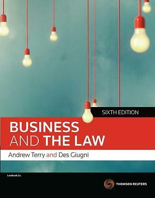 NEW Business and the Law By Andrew Terry Paperback Free Shipping