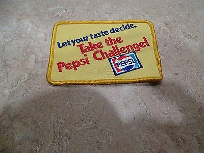 "Take The Pepsi Challenge! Vintage 4"" Yellow Uniform Patch Let Your Taste Decide"