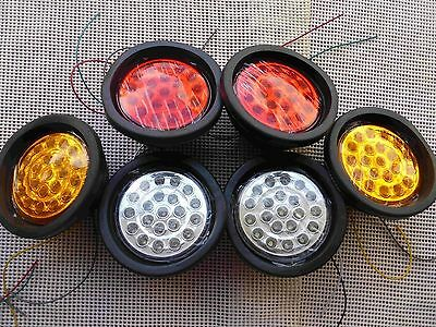 24V 130(105)mm Six Pieces Round 21 LED 022 Tail Lights 4 Ute Trailer Truck Bus
