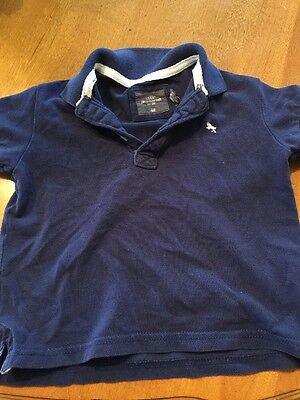 H & M Polo Shirt Size 1 1/2 To 2 Years Old Blue Boy's Polo Shirt