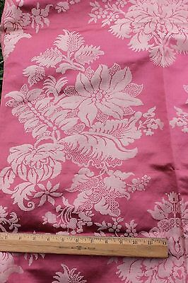 "Lovely Antique 1900 French Silk Home Dec Fabric Textile~46""LX52""W"