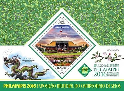 Sao Tome & Principe 2016 MNH Philataipei 2016 World Stamps Exhib 1v S/S Stamps