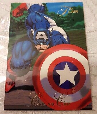 Marvel Flair #65 CAPTAIN AMERICA 1994 Flair Trading Card