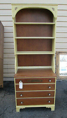 52379  Lambert Hitchcock Furniture 2 Piece Cabinet With Bookcase Top