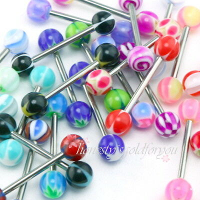 New fashion 30 X TONGUE RINGS PIERCING BODY JEWELRY TOUNGE BARS
