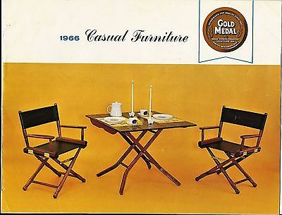 Mid Century 1955 Casual Furniture Sales Brochure - Gold Medal Folding Furniture