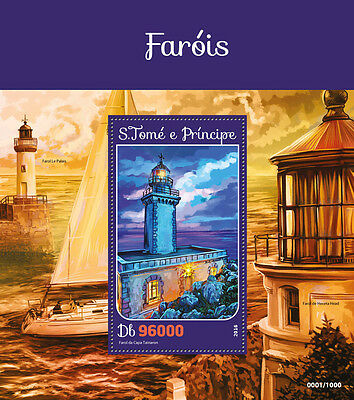 Sao Tome & Principe 2016 MNH Lighthouses Cape Tainaron Lighthouse 1v S/S Stamps
