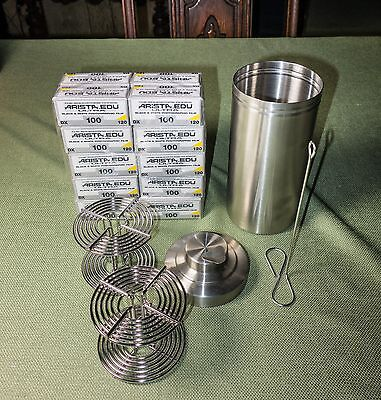Hewes 120 Stainless Steel Developing Reels, and EXTRAS! (SS Tank and Film)