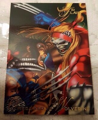 Marvel Flair #86 OMEGA RED VS WOLVERINE 1994 Flair Trading Card