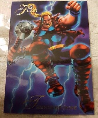 Marvel Flair #109 THUNDERSTRIKE 1994 Flair Trading Card