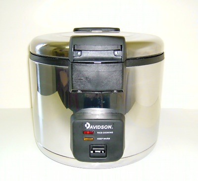 Davidson S/Steel Heavy Duty Commercial Rice Cooker 6L/35Cups CFXB180B -Demo D900