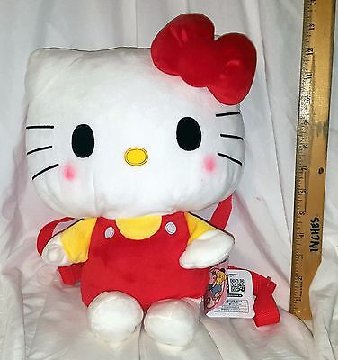 New Sanrio Hello Kitty Plush Backpack! Japan! Us Seller! Free Ship!