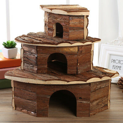 Small Pet Mice Rabbit Guinea Pig Hamster Gerbil Rat  Wooden House Cage Hutch