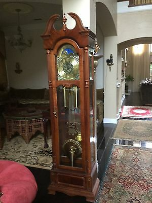 Ridgeway Grandfather Clock---Weight Driven With 3 Way Chime Setting--
