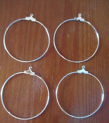 40mm earring hoops wine glass hoops 20 pcs