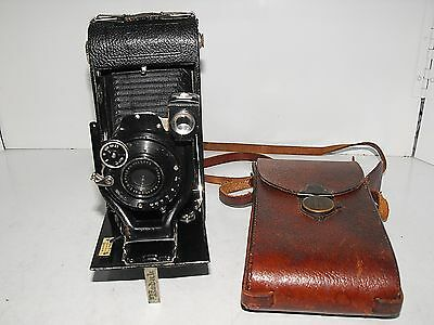 "Vintage 20s Folding Ihagee Anastigmatic Film Camera In Great Condition ""Rare"""