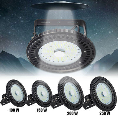 100/150/200/250W UFO LED High Bay Light Commercial Lighting Factory Cool White