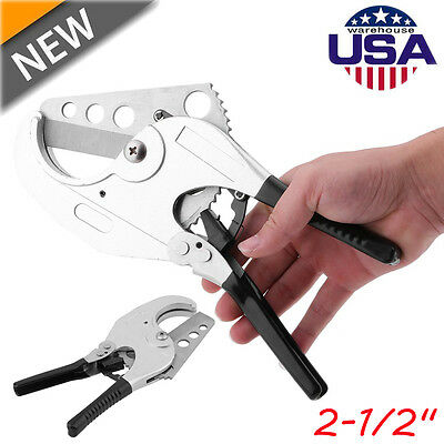 PVC Plumbing Pipe Cutter Tool Plastic Hose Ratcheting 63mm NEW OY