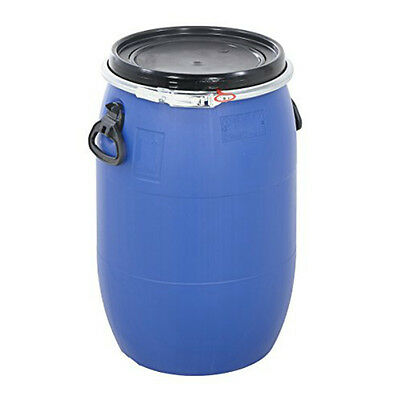 30 litre open top plastic keg drum and lid un approved food chemical safe *NEW*