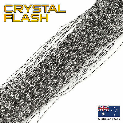Black Crystal Flash - Krystal, Tinsel, Fly Tying Materials, Snapper, jig assist