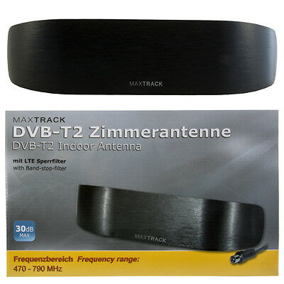 DVB-T2 aktive Zimmerantenne 30dB Full HD DAB+ TV-Radio LTE Filter Antenne DVB-8L