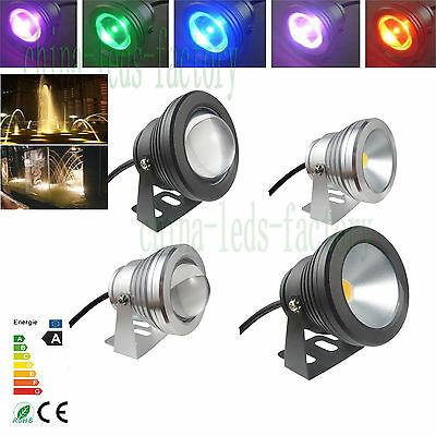 RGB LED Underwater Spot Light 10W 12V Garden Pool Lamp Waterproof Pond Light