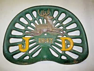 John Deere Cast Iron Vintage 1847 Tractor Seat Replica Farm Equipment