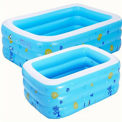 130* 90Cm Baby Children Kids Inflatable Thickening Family Swimming Pool Bathtub