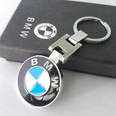 New Stainless Steel Metal Car Key Chain Keyring for BMW Car Key Chain