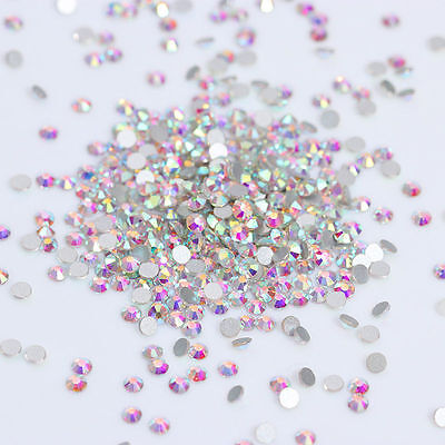 1440pcs Rhinestone Colorful Flat Bottom 3D Nail Decoration SS3 Manicure DIY Tips