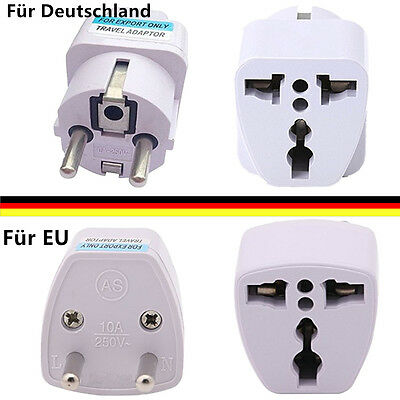 Universal US AU UK zum EU Netzstecker Travel Essential Charger Adapter Converter