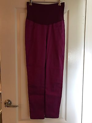 Metallic Fuchsia Maternity Slim Leg Pants Size 10
