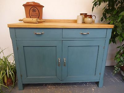 Lovely Large Wood Wooden Painted Kitchen Sideboard Cupboard
