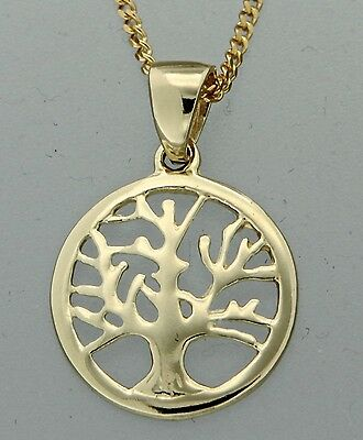 NEW Genuine Solid 9ct Yellow Gold Tree of Life Pendant!