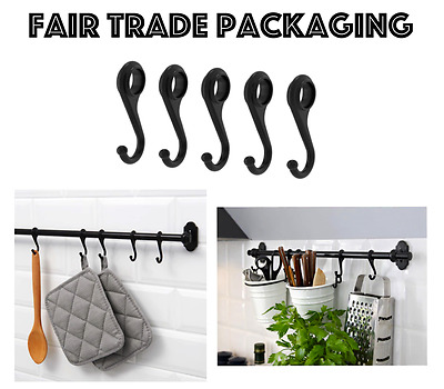 Ikea Fintorp 5 Pack S Hook For Kitchen Rail 7Cm