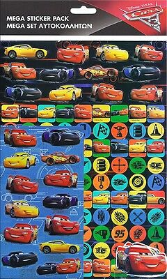 Disney Cars 3 Movie Mega Sticker Pack Over 150 Stickers Party Favours Crafts