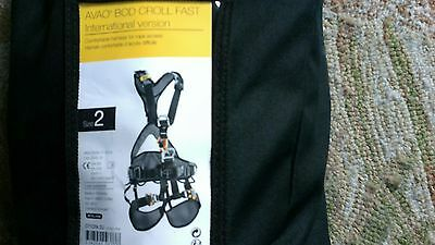 PETZL  Harness Size 2, AVAO BOD CROLL FAST, Rope Access, Repelling, Caving