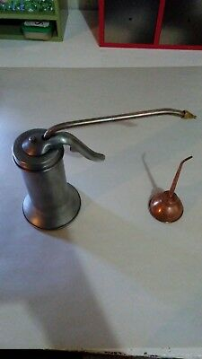 VINTAGE EAGLE OIL CAN, TRIGGER SQUIRT OILER and mini copper oiler lot!
