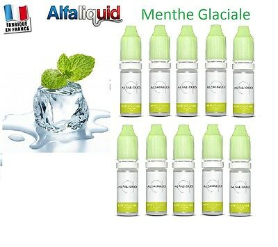 Alfaliquid Lot 10 flacons X 10 ml menthe glaciale