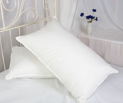 8 Pack Forever Full Luxurious Hotel Quality Pillows With Piped Edging Free P&P