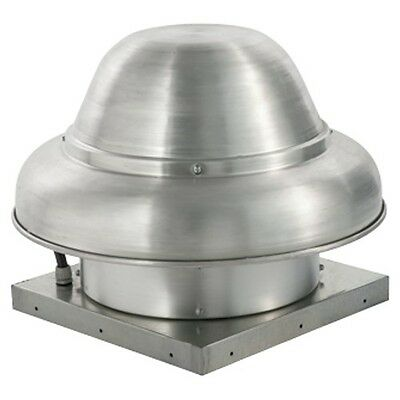 """1600 CFM Direct Drive Downblast Exhaust Fan with 13.75"""" Wheel (0.5 HP / 115 V)"""
