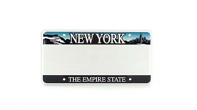 New York The Empire State US USA License Plate Embossed Oblong Mounting Hole